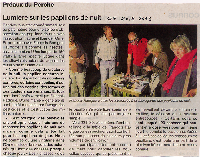 artticlepresse chassenuit 2013 Preaux